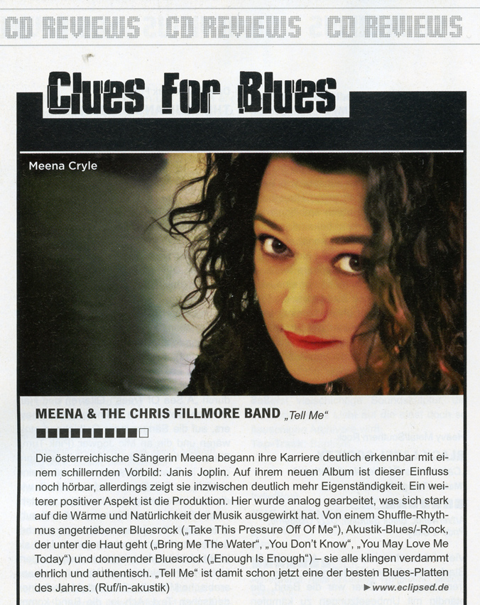 "Meena ""Tell me"" best blues album"