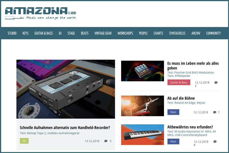 Gear reviews for magazine Amazona